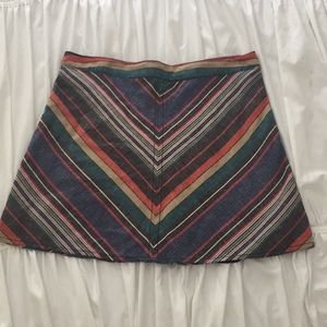 Free People Fully Lined Mini Skirt Sz 12